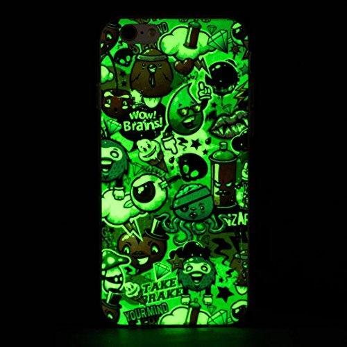 iPhone 6s Plus / 6 Plus Hülle, Vandot Schutzhülle für iPhone 6s Plus / 6 Plus Case Silikon Muster Malerei TPU Cover Leuchtend Luminous Noctilucent Abdeckung Handytasche Löwenzahn Schmetterling Blumen  Color 1