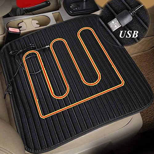Beheizbare Sitzauflage Auto - ZATOOTO Heizauflagen USB, Warm Sitzpolster für den Winter, Universeller Einsatz in Auto, Büro, Zuhause, rutschfest, Comfortabel, Schwarz