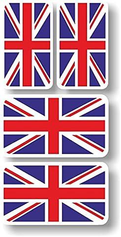 Sticker vinyle autocollant/Extra Petits drapeaux Union Jack–Groupe de (35 Flags)