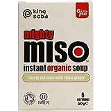 King Soba Miso Con Tofu Rojo Y Jengibre Instantánea 60g Sopa Orgánica (Paquete de 6)
