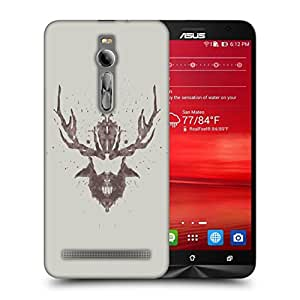 Snoogg Beard With Horns Designer Protective Back Case Cover For ASUS ZENFONE 2