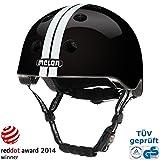 Melon Helm straight white black - Fahrradhelm, Skaterhelm, BMX Helm, Größe:XXS-S (46-52cm)