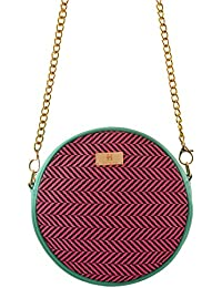 Women's Sling Bag (Pink And Turquoise) - B072XGV4RD