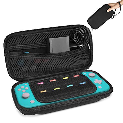 Keten Custodia per Nintendo Switch Lite, Custodia da Protettiva Trasporto Compatibile con 8 Cartucce di Gioco per Nintendo Switch Lite e Altri Accessori (Nero)
