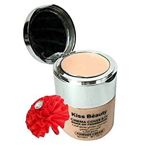 Kiss Beauty Cinema Cover & TV Make up Liquied Foundation & Powder Cream-HAUGR-P-FL (Shade-2)