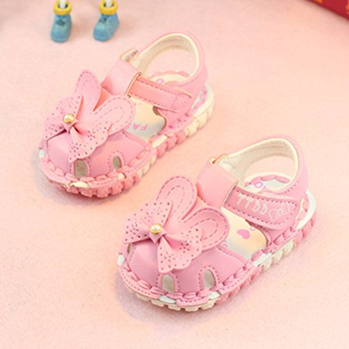 Zhhlinyuan Fashion Kids Toddler Soft-Soled Princess Shoes Hollow Flowers Sandals Pink