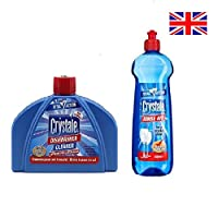 Crystale Dishwasher Cleaner and Rinse Aid Combo