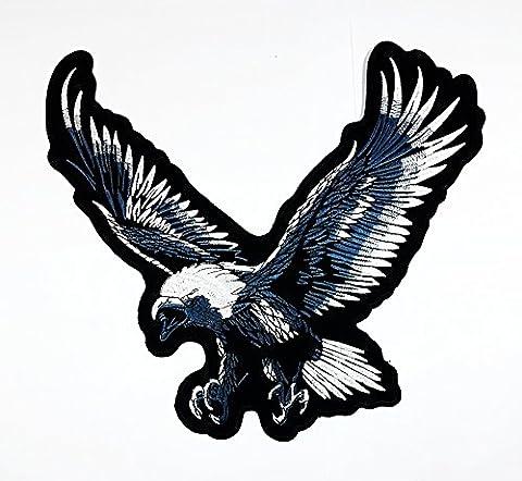 RABANA XXLLarge Flying Eagle Hawk Bald Bird Rider Biker Tatoo Patch Sew Iron on Embroidered Badge Sign