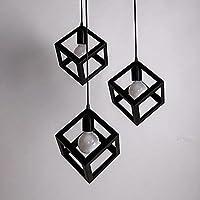 KHSKX pendente disco nero ferro 3