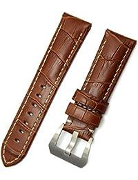 4c873400727b Sunonip Accesorios para Reloj Moda para Hombre Banda De Reloj De Cuero  Marrón 22 Mm 24 Mm Correa De Correa De…