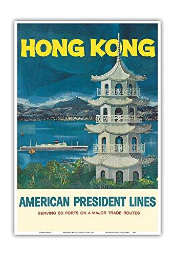 hong-kong-fragrant-harbour-american-president-lines-vintage-ocean-liner-travel-poster-c1950s-master-
