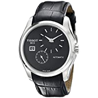 ساعة كوتورييه اوتوماتيكية صناعة سويسرية وعرض انالوج لون اسود للرجال من تيسوت T0354281605100