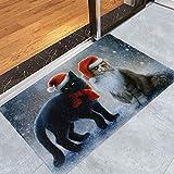 Mitlfuny Weihnachten Home TüR Dekoration 2019,Frohe Weihnachten Willkommen FußMatten Indoor Home Carpets Decor 40x60CM