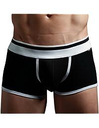 PANEGY Herren Low-Rise Boxershorts Boxer Briefs Trunks Unterwäsche Unterhosen Baumwolle (Farbe wählbar)