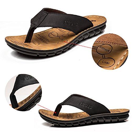 INFLATION Herren Sandalen Herren Pantoletten Essential Beach Sandal Zehentrenner Junge Pantoletten Flip Flop Hausschuhe für Männer Classic Clogs Schwarz 39 EU