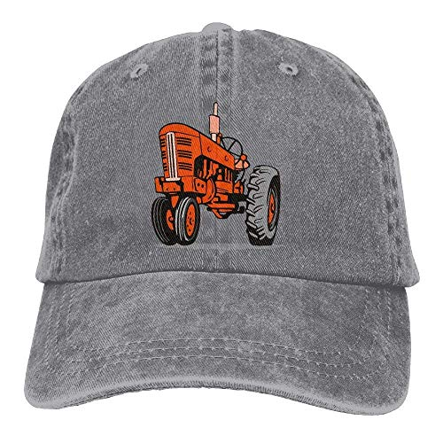 Preisvergleich Produktbild apnzll Denim Baseball Cap Vintage Tractor Adjustable
