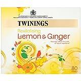 Twinings Revitalising Lemon & Ginger 80 Tea Bags (Pack of 4, total 320 Tea Bags)