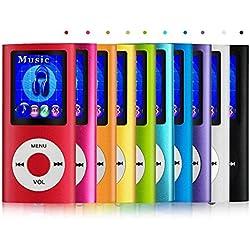 Reproductor MP4 con Pantalla LCD, Visor de Fotos, Reproductor de Video, Lector e-Book, Radio FM, Grabadora de Voz, Color Azul, Electrónica Rey®
