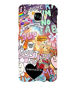 Printvisa Assorted Words Pattern Back Case Cover for Samsung Galaxy C5