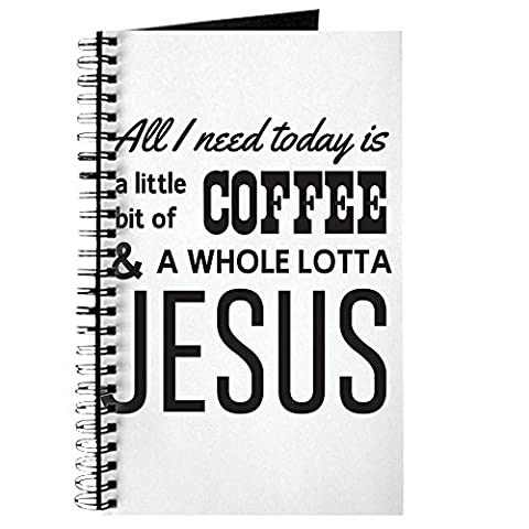 CafePress–All I Need Today is a little bit of Coffee & A Who–Spiral Bound Journal Notizbuch, persönliches Tagebuch, liniert