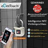 eGeeTouch Intelligentes NFC Vorhängeschloss - elektronisches Smart Lock