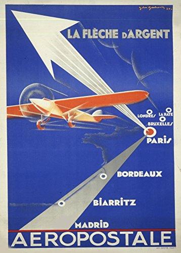 vintage-de-aviacion-y-militares-francia-la-fleche-d-argent-aeropostale-inglaterra-espana-c1930-repro