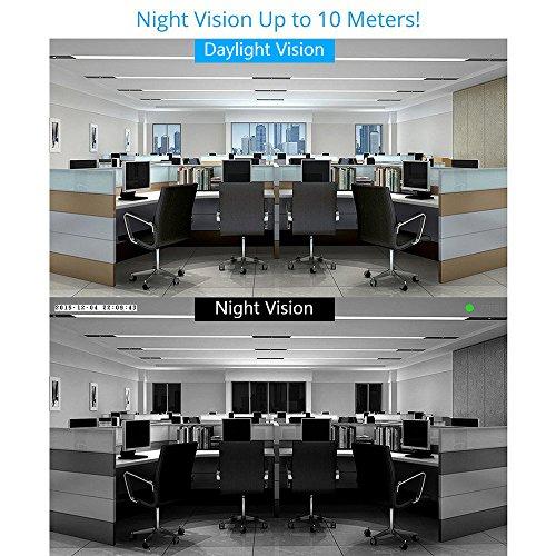Archeer Telecamera IP di Sicurezza Bullet per Esterni Impermeabile IP66 720P HD WiFi&Wired Videocamera,visione notturna e Lente da 3.6mm (60°Gradi) rilevatore di movimento e funzione di Alarm Push, visualizzazione remota da smartphone/tablet/PC/Laptop modello 832 bianco