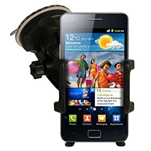 NEW IN CAR HOLDER WINDSCREEN SUCTION MOUNT CRADLE + IN CAR CHARGER FOR SAMSUNG GALAXY S2 I9100