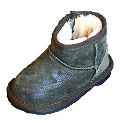 Ohmais Enfants Garçon Fille bottes et bottines botte classiques fille petit talons Chaussure Vert