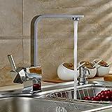 Auralum® Robinet Mitigeur Carré pour Cuisine Design Élégant en forme de « 7 »