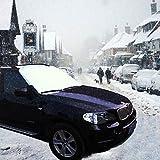 Boonor 160 X 118 cm Telo copriparabrezza auto anti neve, ghiaccio e sole con usare tutto l'anno anche in estate come parasole. (SUV)