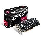 MSI AMD RX 580Armour 4G OC 4Go de mémoire 256bits GDDR5DVI/DP/HDMI carte graphique PCI Express 3–Noir
