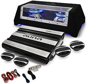 Auna Car Hifi Set London 4 1 System 6000w Bass Boxen Elektronik