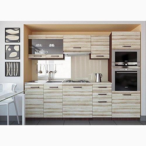 JUSThome Paula Küchenzeile Küchenblock Küche 240 cm Länge große Farbauswahl