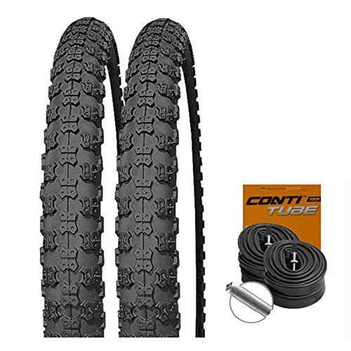 Preisvergleich Produktbild SET: 2 x Kenda K50 Fahrrad BMX Reifen 20x2.125 + 2 CONTI Schläuche Autoventil