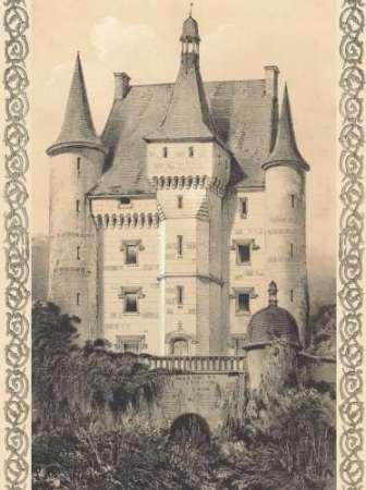 Bordeaux Chateau III par Firmin d'Amiens Cassas, Louis–Fine Art Print Disponible sur papier et toile, Toile, SMALL (9 x 12 Inches )