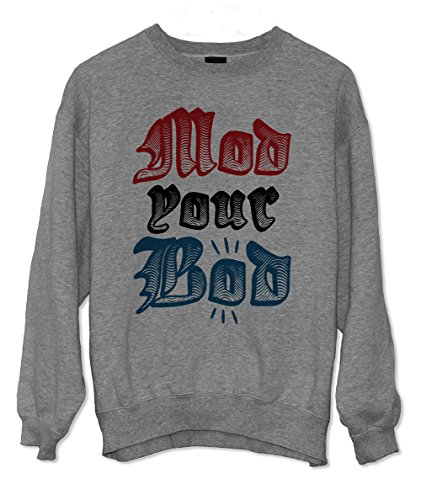 Mod Your Bod Punk Culture Sweatshirt Grau X-Large Mod Zip-hoody