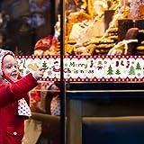 RALCAN DIY Bunte Schnee Weihnachten Wandaufkleber Fensterglas Festival Decals Santa Wandbilder Neujahr Weihnachtsdekor Wohnkultur