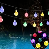 Goodid guirnalda de luces solar impermeable 6M 30 bombillas de LED Burbuja Multicolor