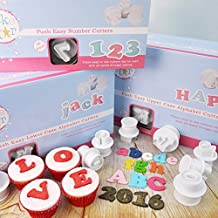 Cake Star Push Easy Upper & Lower Case Alphabet & Number Plunger Cutters by Cake Star Push Easy Plunger Cutters
