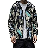 TIFIY Herren KapuzenjackeTIFIY Two Sides Coat Winter Personalisieren Windbreaker Cardigan Herbst Outdoor Fitness Sweatshirt L-5XL(Tarnung,4XL)