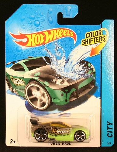 POWER RAGE * COLOR SHIFTERS * 2014 Hot Wheels City Series 1:64 Scale Vehicle #7/48 by Hot Wheels