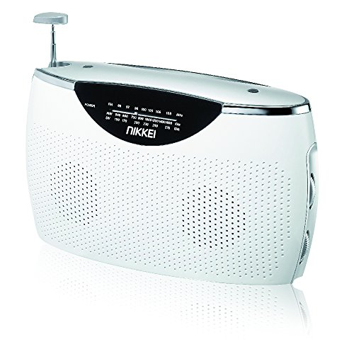 Nikkei NPR100WE tragbares Retro Radio UKW/MW/LW und AUX-IN weiß