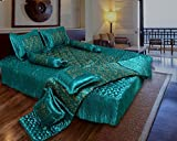 Shopnetix Gold printed Satin Double Bed ...