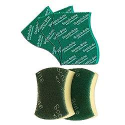 Scotch-Brite Scrub Sponge Large (Pack of 2) and Scrub Pad Large (Pack of 3)