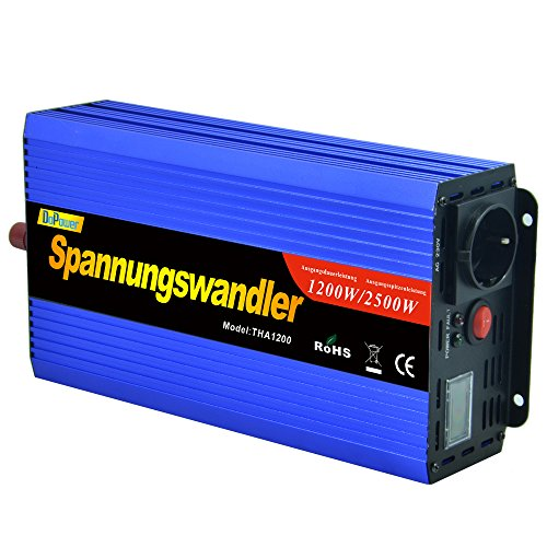 Power inverter 1200 2500w modified wave 12v to 220v modified wave transformer LCD