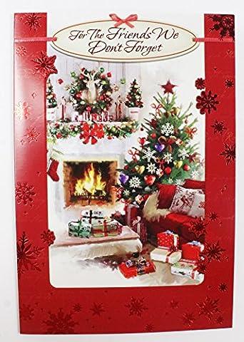 Weihnachten Card für die Freunde Wir vergessen Sie nicht Traditionelle Grußkarte Vers