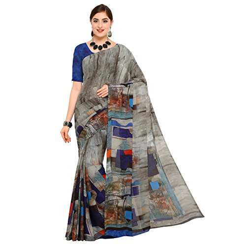 sidhidata textile Georgette Saree With Blouse Piece (D-PRINT 1022_Multi-Coloured_Free Size)