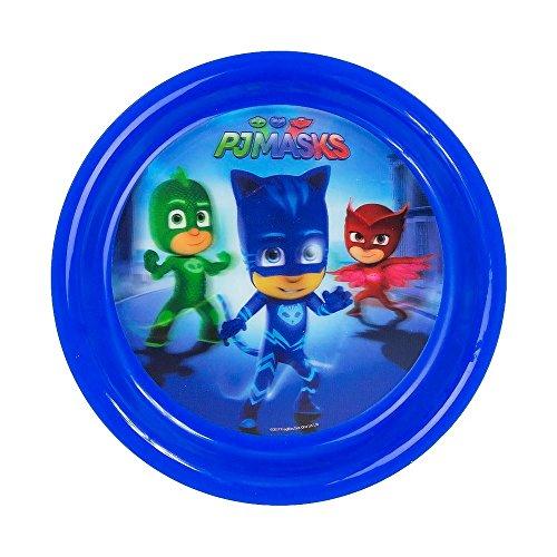 GUIZMAX Assiette Plate Plastique PJ Masks Enfant Pyjamasques