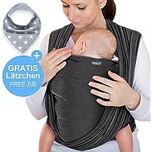Écharpe de portage gris foncé - porte-bébé de haute qualité pour nouveau-nés 6d15fc325a4